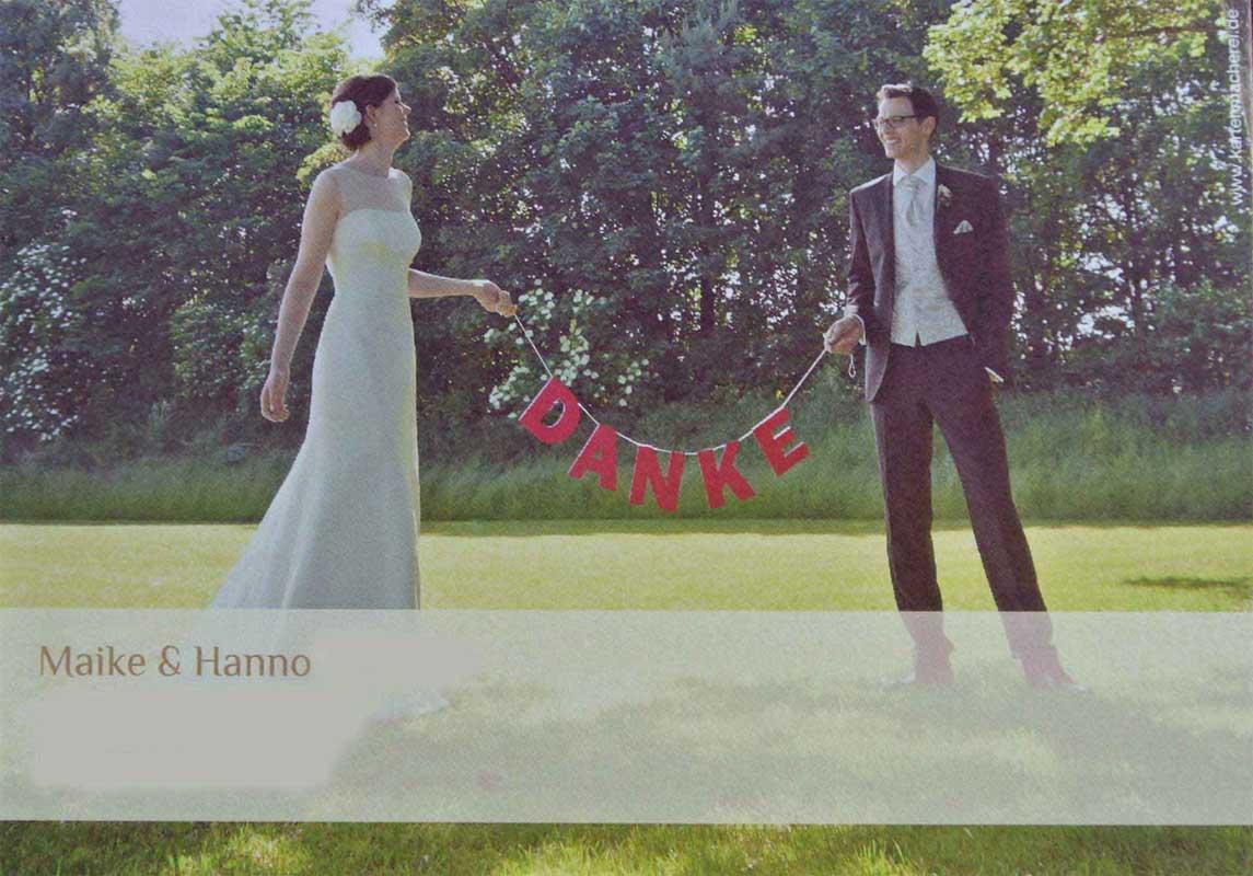 Danke Maike und Hanno