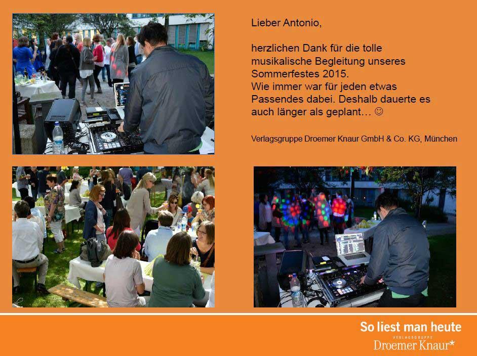 Referenz Sommerfest Droemer Knaur