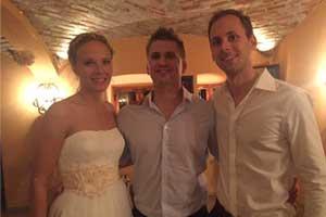 DJ Sandro und Braut und Bräutigam