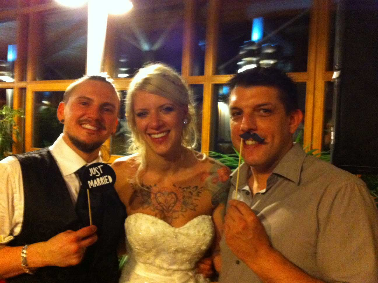 Brautpaar mit DJ Alberto