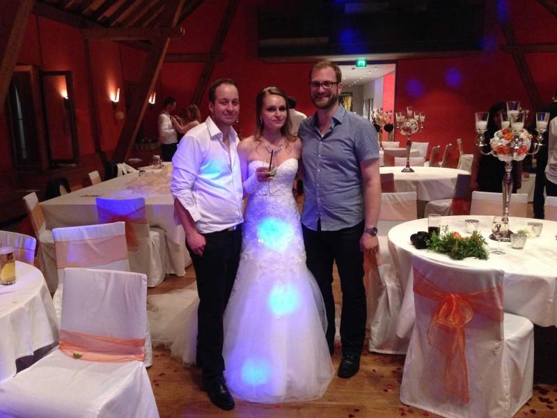 DJ Sebastian Hochzeit München mit Brautpaar